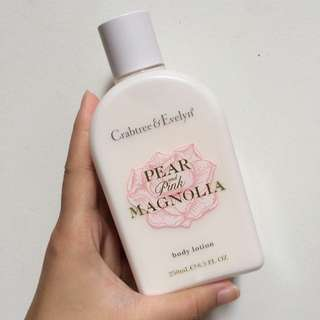 Used: Crabtree & Evelyn Pear And Pink Magnolia Body Lotion