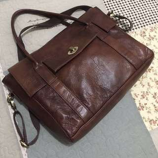 Genuine Leather Messenger Bag/ Briefcase
