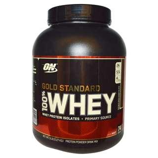 *Protein Shop* 高蛋白 美國代購 ON Optimum Nutrition Gold Standard 金牌乳清蛋白 5磅 另有2磅裝