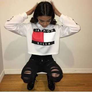 Fashion Killa Hooded Crop Top