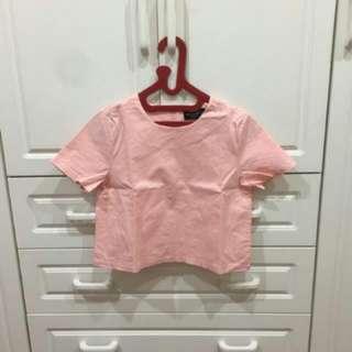 Mixnmax Soft Pink Crop Tee