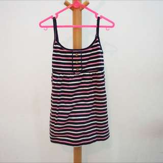 JUICY COUTURE ADJUSTABLE STRAP STRIPED TANK TOP