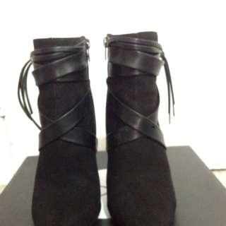Suede Stiletto Boots