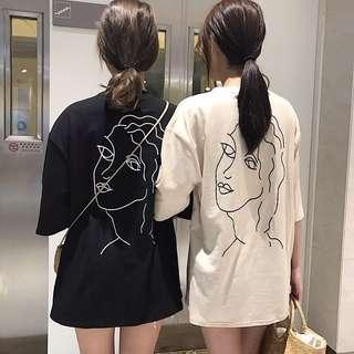 兩色 寬鬆 顯瘦 上衣