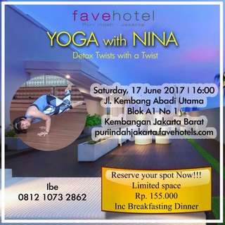 Dinner Package Free Yoga Only Rp.110.000