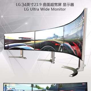 LG 34UC99-W 34吋 4K IPS 曲面 21:9 電腦液晶顯示器 Type-C 可面交~