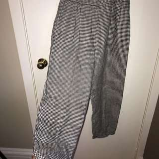 VINTAGE GINGHAM BAGGY PANTS