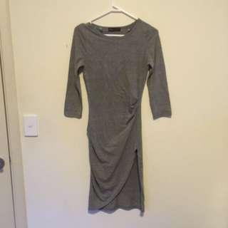 Ally Grey Marble Bodycon Dress