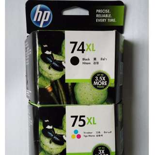 HP Ink Cartridge 74XL 75XL (Set)
