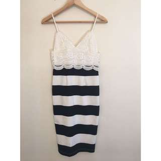 BNWT Black And White Dress