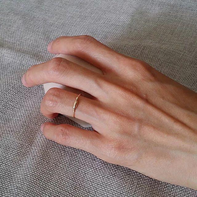 💍14k包金不掉色褪色手工簡約戒指 指環戒