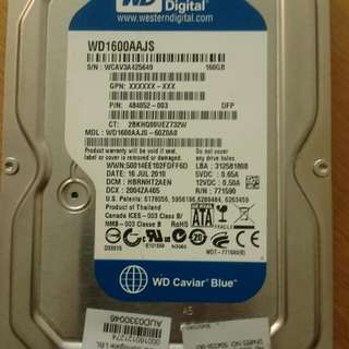 WD Blue 160GB Sata 3.0