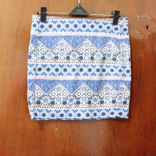 H&M Blue Tribal Skirt | Rok #onlinesale