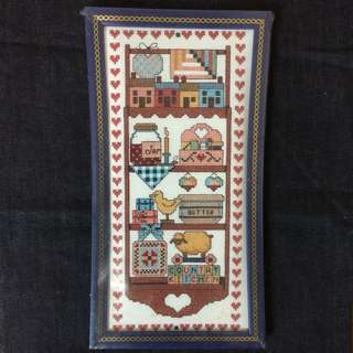 Country Kitchen Cross Stitch Kit With Frame
