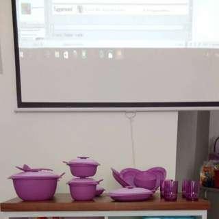 Banting Harga Tuperware Purple Daisy Free Ongkir P.Jawa N Sumatera
