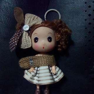 Korean cute doll keychain