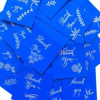 Calligraphy: Customised Thank you Cards