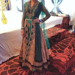 Green/Gold Elegant Indian Suit
