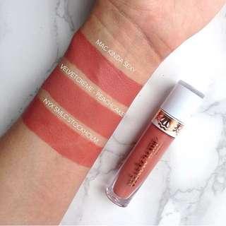 Breena Beauty VelvetCreme Liquid Lipstick( Peach cake)
