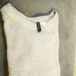 Sweater H&M Cream Color