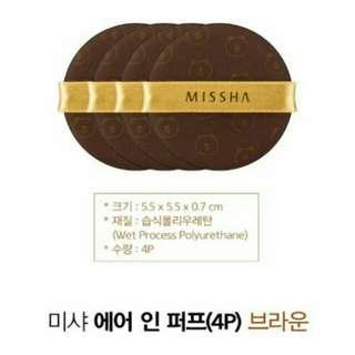 MISSHA×LINE熊大氣墊粉撲#百元全新彩妝