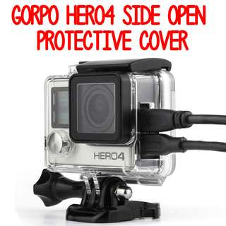 TGP036 GoPro Hero 4 Skeleton Housing Case Side Open Protective Cover