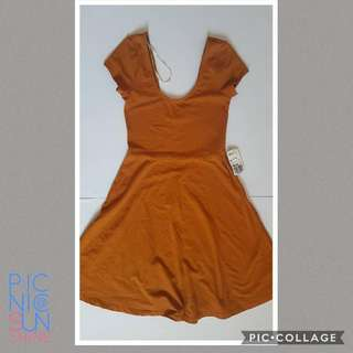 F21 brown cotton swing dress. Never used with tag. Php 300. Org price php885. Small