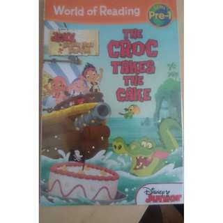 World of Reading Jake and the Never Land Pirates The Croc Takes the Cake Pre-Level 1