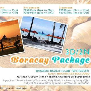 Boracay Package (airfare not included)