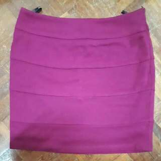 Dancing Betty Burgundy Purple Bodycon Mini Skirt