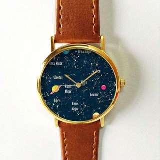 Constellation Watch, Vintage Watch, Unisex, Women's Watch, Men's Watch