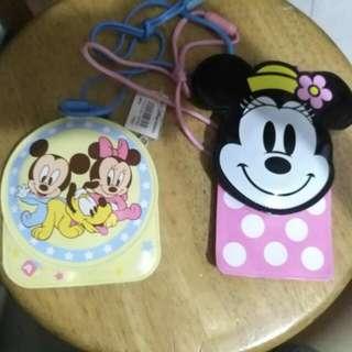 2個Tokyo Disney 證件/八達通套連掛繩