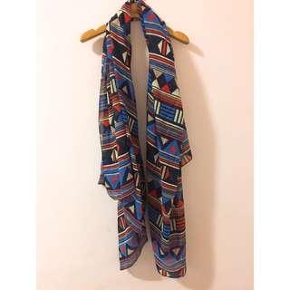 (二手)幾何圖形絲巾、圍巾