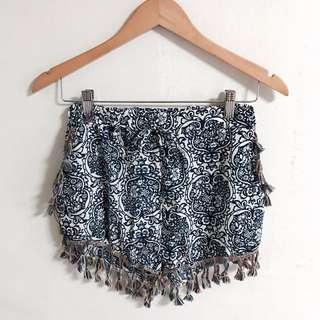 Bohemian Pom Pom Tassel Shorts