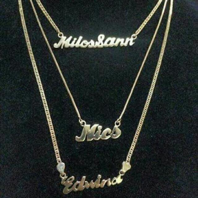 18k Saudi Gold Customized Necklace