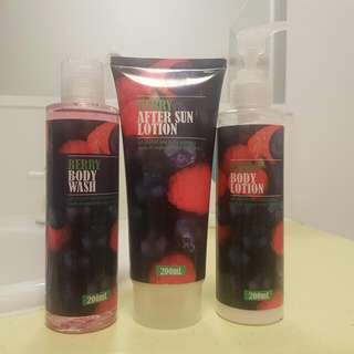Berry Lotion, Body wash, And After Sun Lotion