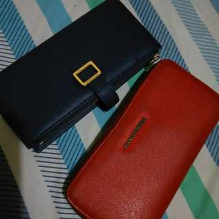 BUNDLE!!Preloved Mangotouch and Michaela Wallet