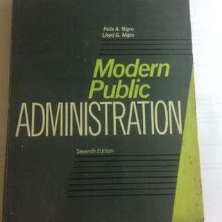 Modern Public Administration