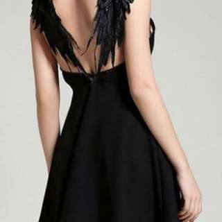 Black Dress With Wings
