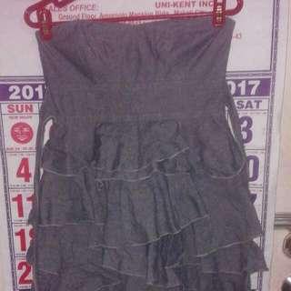 Teeze Me gray ruffled dress
