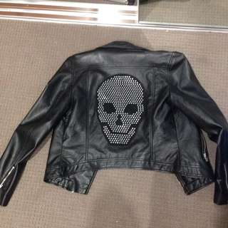 Faux leather jacket (skull)
