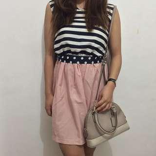 Stripes Lacey Dress