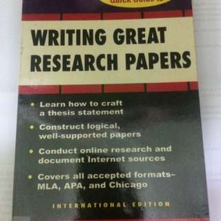 Writing Great Research Paper