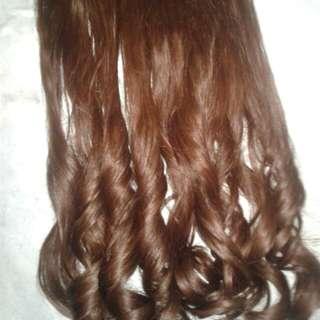 SOLD .Hair Clip Light Brown , 60 Cm