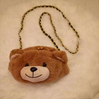 (SOLD) Moschino Bear Sling Bag