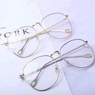 韓國 金屬 大框眼鏡 顯小臉😍 全新 銀色 東區購入 原價690