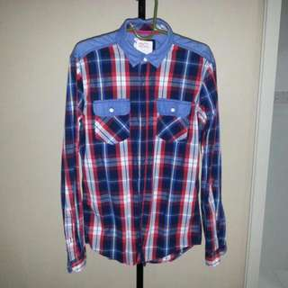 New Padini Long Sleeved Checkered Shirt