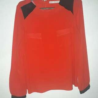 MINIMAL blouse Top Tshirt Kerja Baju Orange