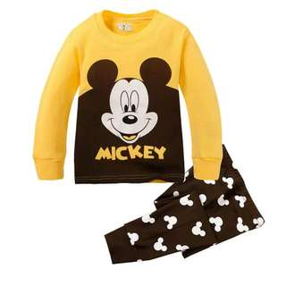 Mikey Mouse Long Sleeve Pyjama Pajamas Sleepwear