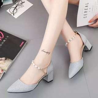 Silverdust Thick Heels 5cm